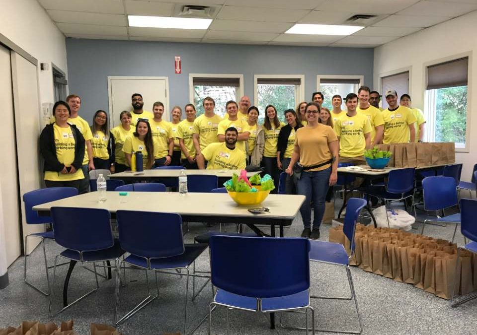 Ernst & Young and the Wildlife Rescue League team up on E-Y Connect Day!